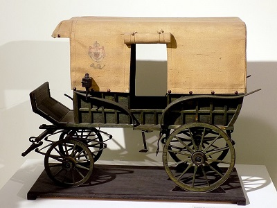 1024px Model of postal carriage Federlija in use in Serbia from 1878